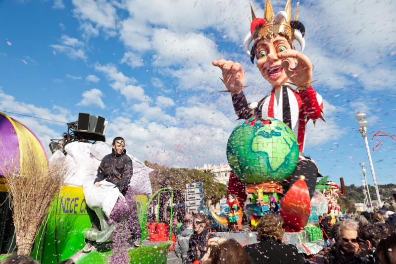 Carnival of Nice in French Riviera