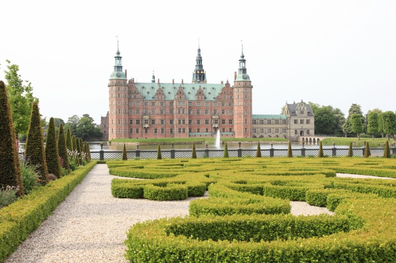 Frederiksborg Slot and garden in Denmark
