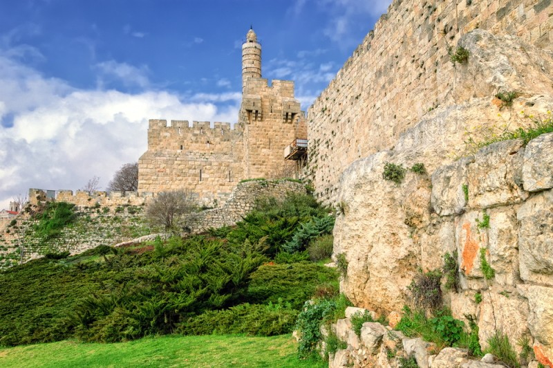 Tower of David and city wall, Jerusalem, Israel