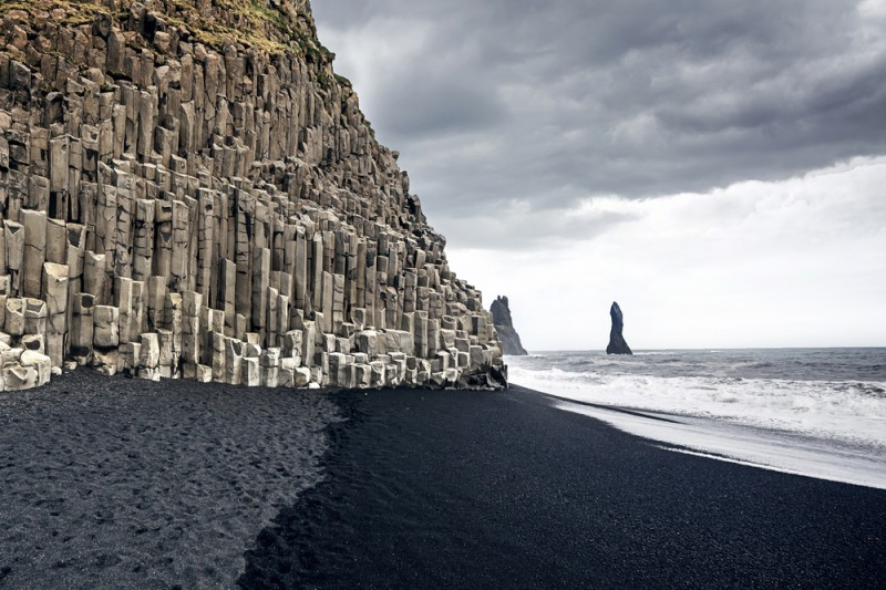 black sand beach of Reynisfjara Iceland
