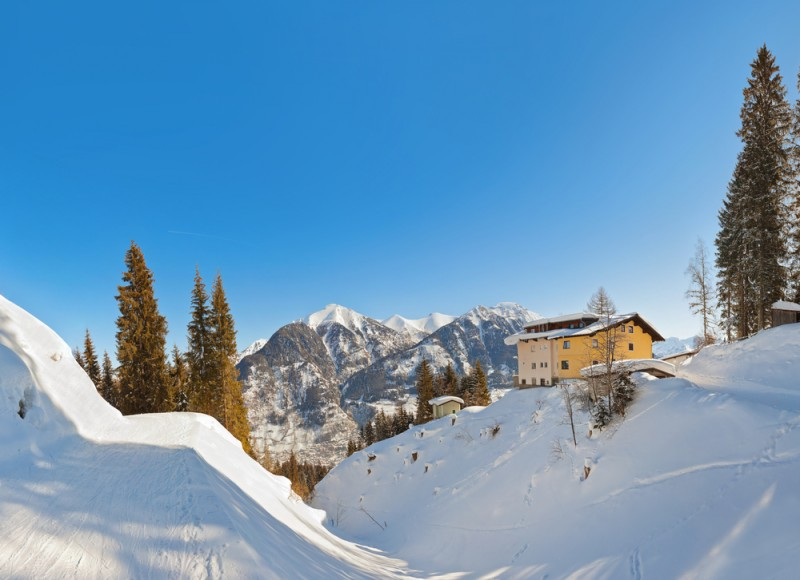 Mountains ski resort Bad Hofgastein Austria