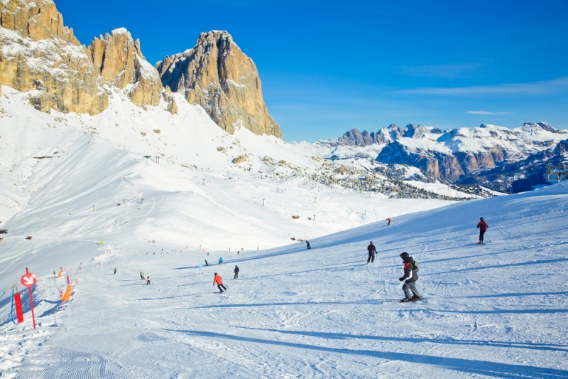 Val Di Fassa ski resort in Italy