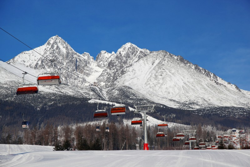 High Tatras ski resort in Slovakia
