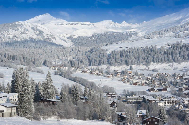 Ski Restort in Flims, Switzerland