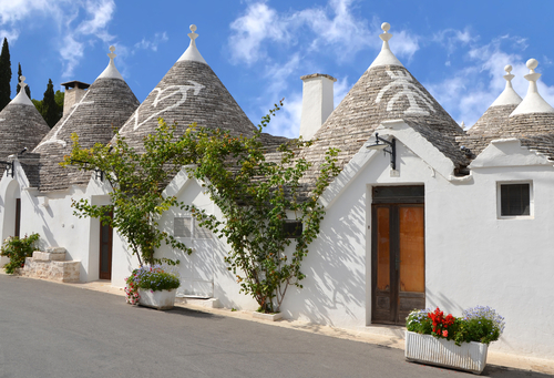 Trulli in the southern Italian town of Alberobello, Apulia, Italy