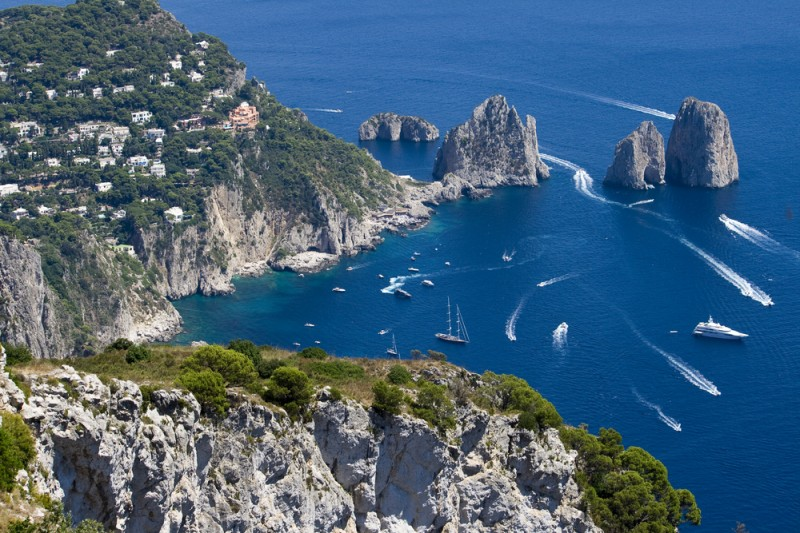 Capri, beautiful island in italy