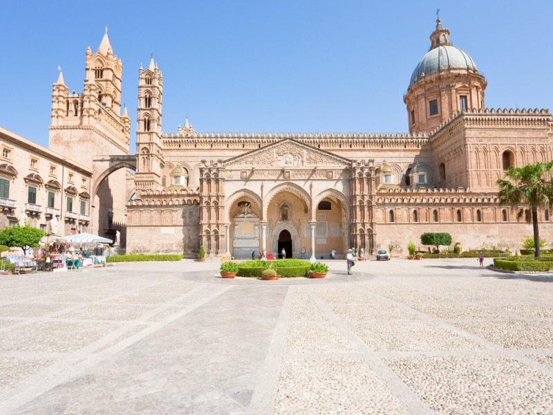 Cathedral of Palermo -ancient architectural complex in Palermo, Sicily