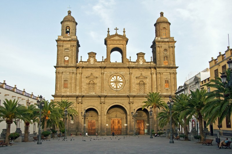 Cathedral of Canary Islands, Plaza de Santa Ana in Las Palmas de Gran Canaria