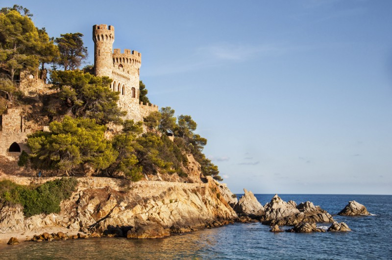 Castle in Lloret de Mar, Spain, Costa Brava