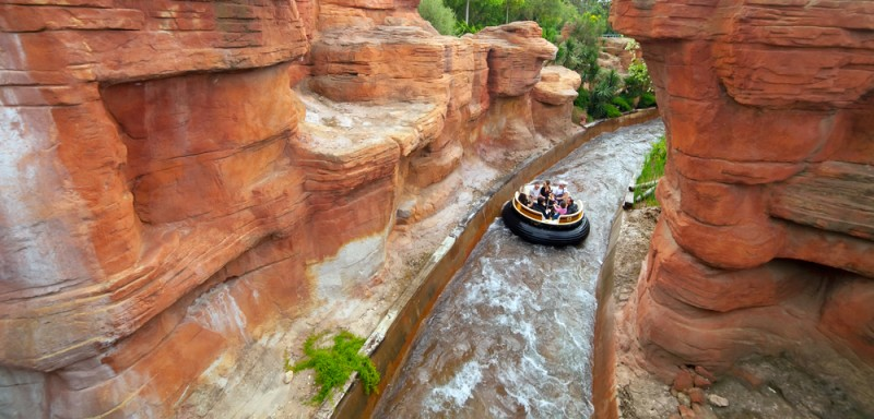 Salou, Spain. Grand Canyon Rapids at Port Aventura