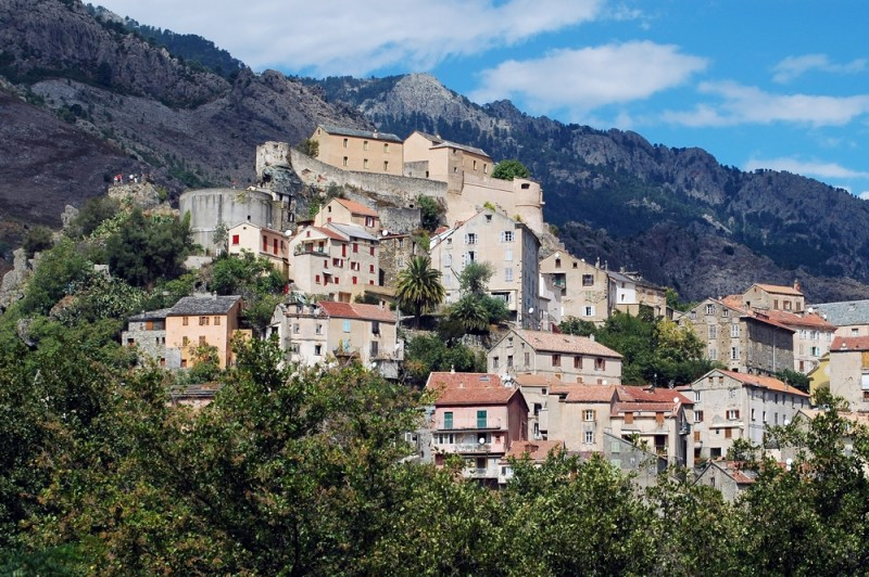 Corte citadel, the capital city of Corsica, France